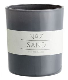 Sand Scented Candle, Gray