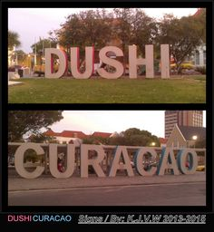 Dushi Curacao | They have been painted over the time in different colors.