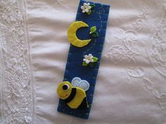 Felt Bookmark  Bee Bookmark  Handmade  Gift for by TinyFeltHeart