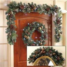 LED Christmas Wreath, Garland and Swag with Bells | Lillian Vernon | Lillian Vernon