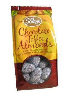 Chocolate Toffee Almond, 5 oz bag, 12 count - http://bestchocolateshop.com/chocolate-toffee-almond-5-oz-bag-12-count/
