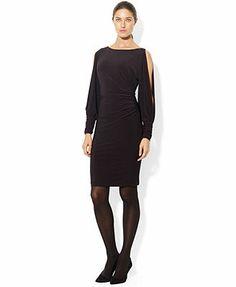 Lauren Ralph Lauren Split-Sleeve Embellished Dress