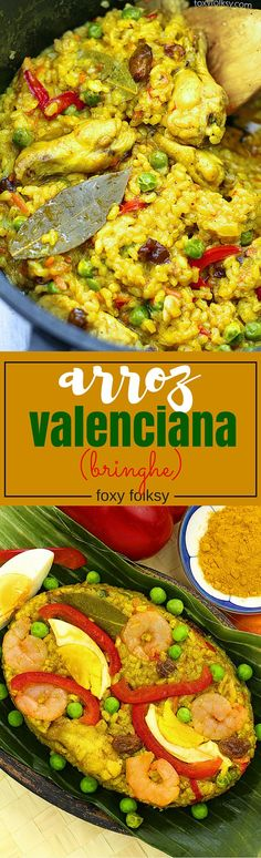 Arroz Valenciana or Bringhe is a flavorful all-in-one Filipino dish from glutinous rice cooked in coconut milk and seasoned with Turmeric. | www.foxyfolksy.com