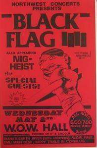 Black Flag 5/2/84 Raymond Pettibon Punk Concert Poster Flyer