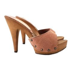 Brown Sandals, Shoes Sandals, Sandals Platform, Casual Heels, Yellow Leather, Leather Clogs, Girls Wear, Me Too Shoes, Black Shoes
