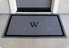 seasonal welcome mats? though I think I'll go with something fancier than standard outdoor carpet.