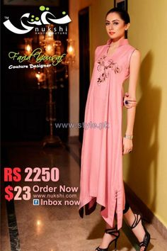 Nukshi Casual Wear Dresses 2013 2014 For Winter 3 for women local brands