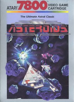 Asteroids for the Atari 7800 Vintage Video Games, Classic Video Games, Retro Video Games, Video Game Art, Retro Games, Consoles, Atari Video Games, Software, Games Box