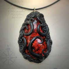 Tentacled Red Amber Necklace