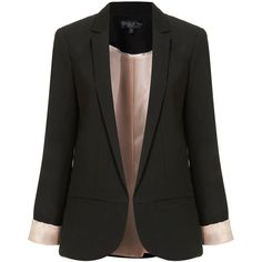 TOPSHOP Tall Structured Blazer ($130) ❤ liked on Polyvore