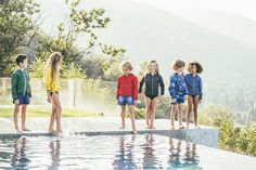 Poolside fun in the Fay Junior bomber jacket, for boys and girls.