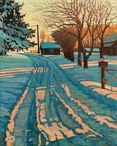 Ken Faulks - Visual Artist - Canadian Plein Air Painter (c'est ainsi que je me… Winter Landscape, Landscape Art, Landscape Paintings, Drawn Art, Guache, Winter Art, Canadian Artists, Landscape Illustration, Amazing Art