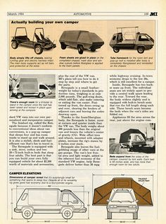 Building your own camper