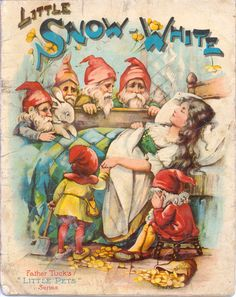 """LITTLE SNOW WHITE"", antique book from Raphael Tuck & Sons."