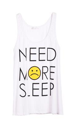 NEED MORE SLEEP Print T-Shirt - Sheinside.com