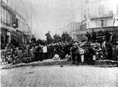 Una barricada en la Comuna de París. Foto: DP.