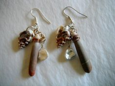 Sea Urchin Spine Earrings with Fresh Water Pearls by ToTheMoon, $13.00
