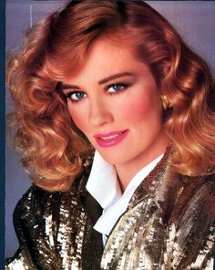 1980s makeup and hair...personally, i hate this look, but it reminds me of my mum, so I have a weird fondness for it...
