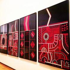 Te Kooti series by Para Matchitt. Māori art in Auckland Art Gallery Toi o Tāmaki. Auckland Art Gallery, Polynesian Art, Maori Designs, New Zealand Art, Nz Art, Virtual Art, Maori Art, Amazing Paintings, Art Carved