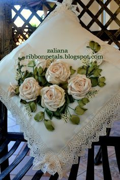 Ribbon Petals...another gorgeous pillow!!