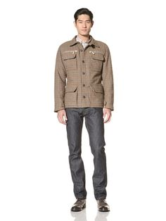79% OFF Façonnable Men\'s Parka Jacket (Multi Beige)