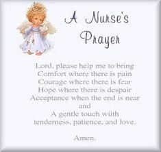 One a tough shift sometimes you have to pray: A simple nurse's prayer  via @Scrubs Magazine