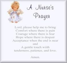 One a tough shift sometimes you have to pray: A simple nurse's prayer  via @Julie Forrest Forrest Forrest Perrigo Magazine