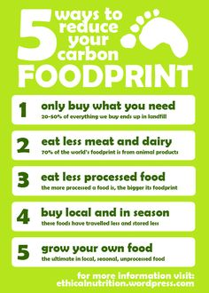5 ways to reduce your carbon footprint! From food!