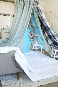 Einfache Höhle Bauen Wohnzimmer Stühle Sofa Decken #kids #blankets #diy