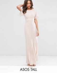 $72. Nude. ASOS TALL WEDDING Soft Maxi Dress