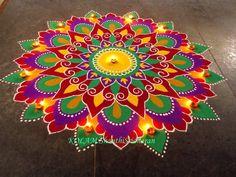 Rangoli Designs Latest, Colorful Rangoli Designs, Rangoli Designs Diwali, Diwali Rangoli, Rangoli Designs Images, Beautiful Rangoli Designs, Indian Rangoli, Latest Rangoli, Rangoli Colours