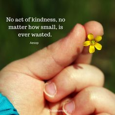 No act of #kindness, no matter how small, is ever wasted. - Aesop  Be kind today. #leadership #coaching #MondayMotivation