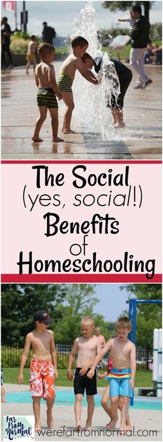 """""""What about socialization???"""" It's the most common question asked of homeschoolers! What people don't understand is that homeschooling has amazing social benefits that help kids build friendships & have fun!"""