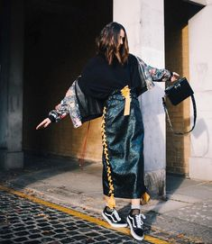 31 Perfect Looks To Copy This January #refinery29 http://www.refinery29.com/2017/01/134420/new-outfit-ideas-january-2017#slide-27 Like we said: More is more is more.Sandra Mansour skirt and jacket....