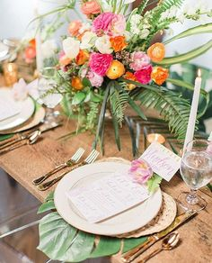 "1,000 Likes, 13 Comments - Ruffled ✨ Weddings + Inspo (@ruffledblog) on Instagram: ""the tropical table of our daydreams 