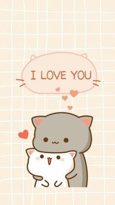 Wall Paper Cute Animals Kawaii 25 Ideas For 2019 Cute Bear Drawings, Cute Kawaii Drawings, Cute Cat Drawing, Cute Kawaii Animals, Kawaii Cat, Chibi Cat, Cute Chibi, Cute Cat Wallpaper, Kawaii Wallpaper
