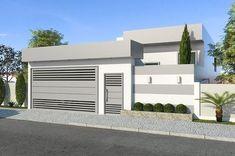 Plano de casa moderna de un piso #fachadasmodernasunpiso