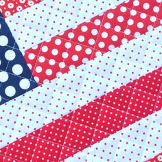 Quilting up multiple patriotic pillows and mini quilts this week!