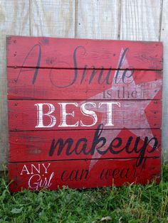 Hand Painted Repurposed Wood Pallet by soulshineliving on Etsy, $75.00