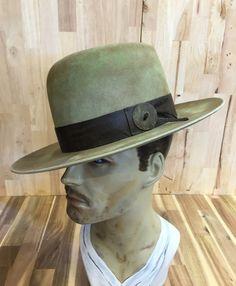hand-dyed beaver blend fur felt mens western hat with by hatWRKS
