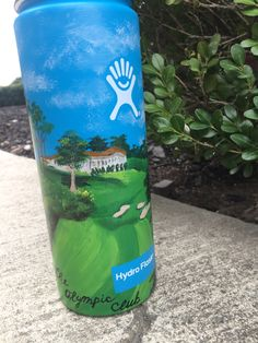 hydro flask with the olympic club painted on it by me #hydroflask