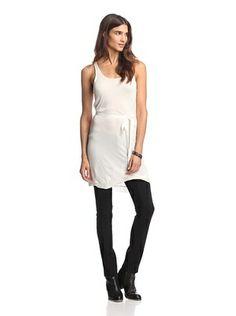 55% OFF American Vintage Women's Scoop Neck Tank Dress (Pearl)