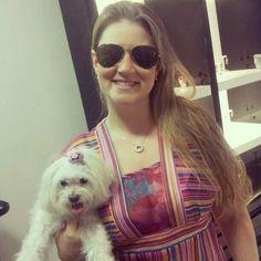 Nycoli Dalmasio com seu dog hj na loja! Ela de coleção luxus! #linda #lookmb #mairabumachar