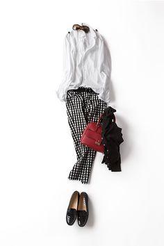 ギットマンのボタンダウンを <br>フレンチっぽく着こなしてみたら…… 2014-06-19 | trousers price :11,000 brand : ELFORBR