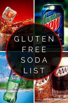 Gluten Free Soda Pop List
