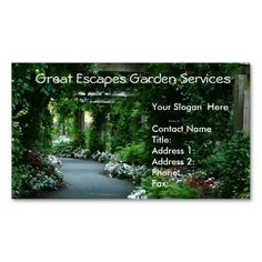 239 best gardening business cards images on pinterest in 2018 garden arbor walkway business card template wajeb Choice Image