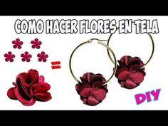 (6) Como Hacer Flores En Tela para Aretes - YouTube Leather Earrings, Flower Earrings, Beaded Earrings, Earrings Handmade, Cloth Flowers, Fabric Flowers, Tatting Jewelry, Diy Tassel, Polymer Clay Beads