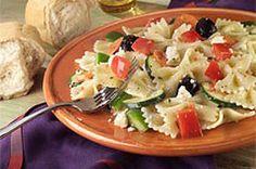 Dressed-Up Pasta and Pepper Salad recipe