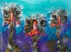 """Party Animals"" 80 x 120 cm. By Erik Zwezerijnen www.erikzwezerijnen.com Animal Party, Party Animals, Unique Art, Street Art, Owl, Puppies, Bird, Painting, Fictional Characters"