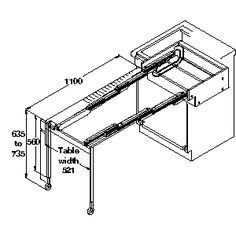 Pull Out Tables with legs